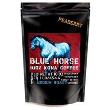 Blue Horse Kona Coffee Peaberry